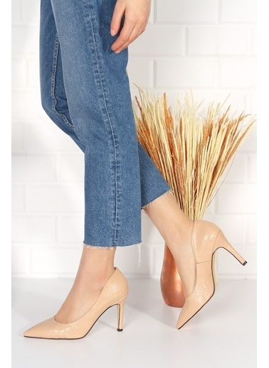 Derithy Elegante Topuklu Ayakkabı-Ten Suet-Byc2001 Ten